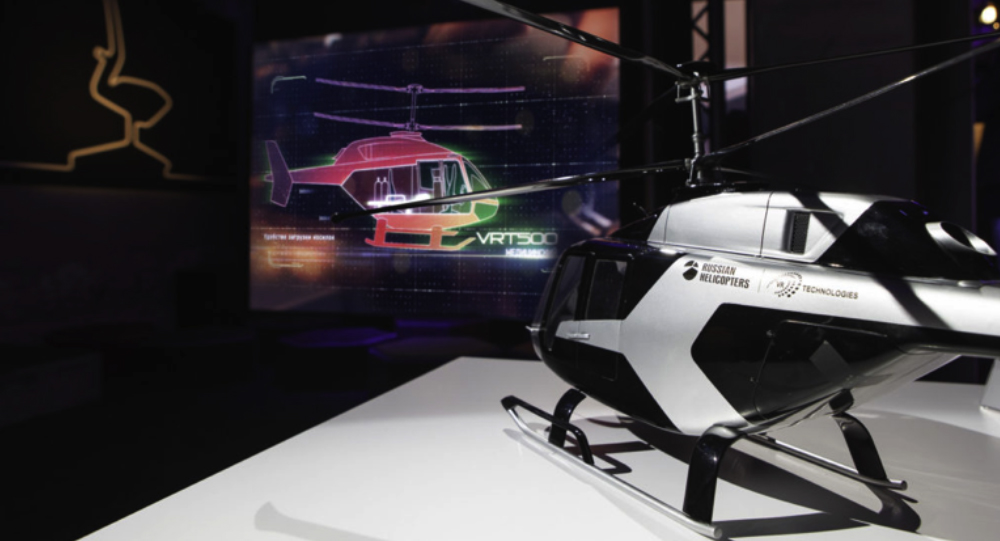 Russian Helicopters presents mockup of VRT500 at Milan Design Week